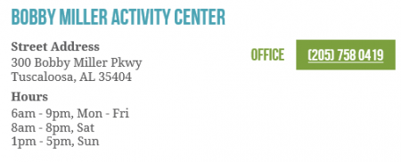 Bobby Miller Activity Center Contact Info