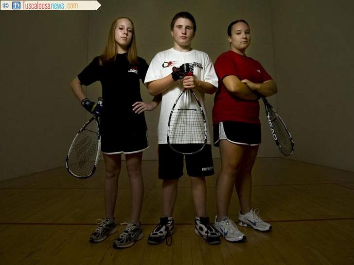 Smith, Hemphill, Smith, May 2009, Racquetball Players