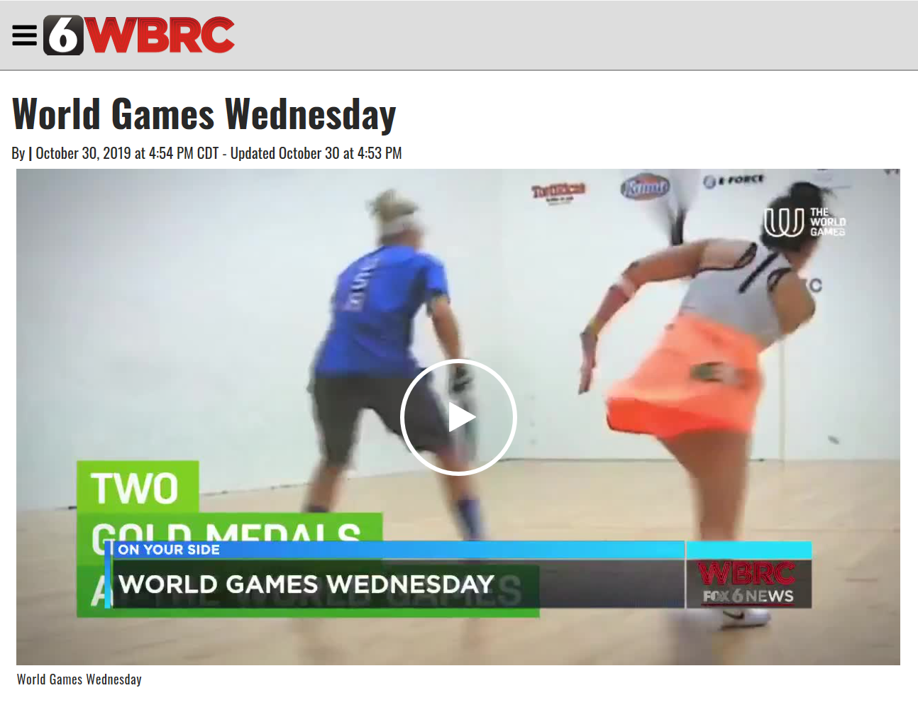 World Games Wednesday Racquetball Photo Link